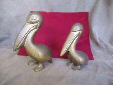 Vintage Brass Pelican Figures - Nautical Decor dl