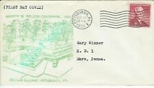 Andrew W Mellon 1955 Centennial 1072 Unlisted cachet + Pittsburgh PA Cancel!
