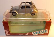 VITESSE CITROEN 2CV 1948 OPEN OUVERTE GRIS ARGENT 1/43 REF 520-1 IN BOX