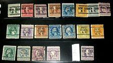 US WASHINGTON/FRANKLIN 1908-12 PRECANCELS COLLECTION OF 20 NEW YORK NY