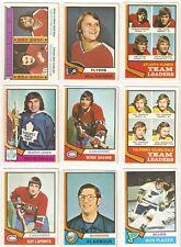 1974-75 OPC NEAR SET 340/396, w MANY STARS, HOFERS & RC!!  86% OF THE SET!!