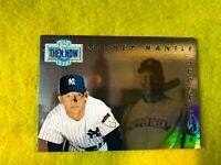 MICKEY MANTLE , YANKEES , 1993 UD , THEN & NOW HOLOGRAM INSERT , MLB CARD #TN17