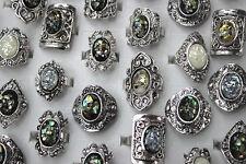 Fashion Jewelry Lots 30pcs Resin shell Silver P Oversize Trendy Wonderful rings