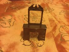 VTG EUC Renwal Products Made In USA B 82 Brown Dollhouse Vanity