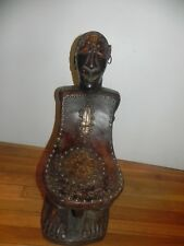 """Arts of Africa - Songye Chair - DRC Congo - 23"""" H X 10"""" W X 15"""" L"""
