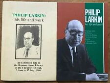 Philip Larkin His Life and Work Exhibition Catalogues x2 1986