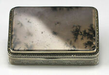 C1900 Meyle and Mayer German Sterling Silver Tobacco Box with Quartz / Stone