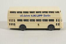 1161 Wiking BÜSSING D2U Werbemodell R.W. LIPP 1977  /  Linie 19 Flughafen