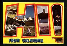 Modern Large Letter Postcard HI from Oklahoma OK Cattle Tee Pees Prairie Dog