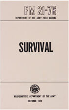 US Survival Manual Issue FM 21-76 Book Oct 1970