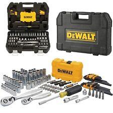 Dewalt 108 Pcs Mechanics Tool Set Universal Ratchet Socket Kit Case Toolbox DIY