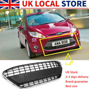 FOR FORD FIESTA MK7 2008 - 2012 FRONT BUMPER GRILLE WITH CHROME TRIM COMPLETE UK
