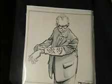 Conrad-Original Political Cartoon-1964 Goldwater Preps Off the Cuff Remarks/LBJ