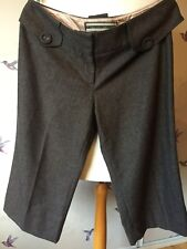 River Island Tweed Smart Stylish Cropped Trousers 14