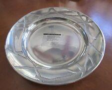 "Beautiful Lenox Modern Design 14"" Large Metal Platter Tray Serving Platter (O)"