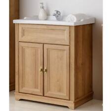 Waschbeckenunterschrank Waschbecken Waschtisch Keramik Badmöbel Riviera Eiche