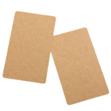 100 Brown Kraft Label Paper Tag Blank Luggage Card Party Wedding Hang Gift B7Q6