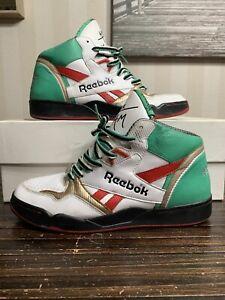 Reebok Basketball Sir Jam Series Mids White/Green/Red/Gold Mens 8  PVN4-783120