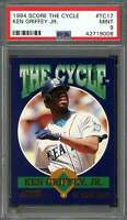 1994 score the cycle #tc17 KEN GRIFFEY JR seattle mariners PSA 9