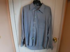Pre Owned Mens blue Johnnie Walker Blue Button Front Long sleeve Shirt