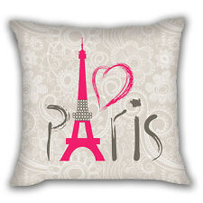 Paris vintage home decor polyester pillow case sofa taille throw cushion cover