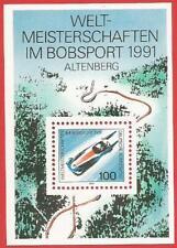 WM im Bobsport in Altenberg Bund Block 23 postfrisch