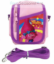 Trolls Poppy Light Pink Travel Camera Pouch Bag Wallet Purse with Shoulder Strap
