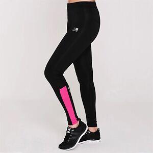 Ladies Karrimor Running Yoga Workout Gym Tights Leggings Bottoms Black Pink