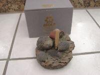 The Arden Sculptures Christopher Holt Hedgehog Family w/box figurine stoneware