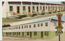 c1930 SNYDER'S MOTEL Trailor Court AAA Rt 6 Atlantic Iowa Postcard