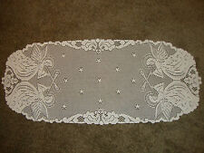 New White Lace  Angel Design Table Runner 36 x 15