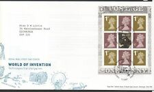 GB 2007 FDC World Of Invention Booklet Pane SGY1670a Edinburgh postmark stamps