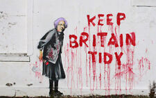 BANKSY ART PHOTO PRINT (KEEP BRITAIN TIDY)