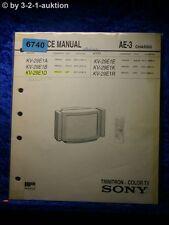 Sony Service Manual KV 29E1D /B /A E /K /R Color TV (#6740)