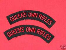 QUEEN'S OWN RIFLES CANADA Cloth Shoulder Flashes