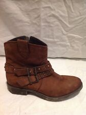 Girls Russell&Bromley Brown Leather Boots Size 34