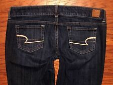 AMERICAN EAGLE ARTIST Low Rise Flare Blue Stretch Jeans Sz 14 Long W 37 x L 34