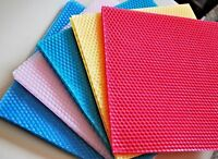 2 Honeycomb 100% pure Beeswax Sheets Candle Making square CRAFTING big size 8''