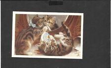 Nostalgia Postcard Kittens Preparing for the party 1917