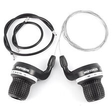 Pair Mountain Bike Bicycle MTB Speed Twist Shifter Shimano & SRAM Grip Shift Set