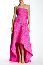 NWT! Issue New York Strapless Lace Gown Fuchsia Bonded Lace [Small] #N625