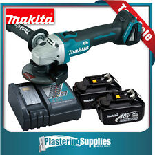 Makita DGA454Z 18v Cordless Brushless Angle Grinder + 2x 3.0Ah Battery + Charger