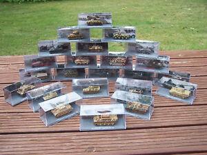 23 Stück Modelle Panzer De Agostini - Vitrinenmodelle - Sammlung Konvolut