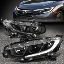 FOR 16-18 HONDA CIVIC PAIR BLACK HOUSING LED DRL PROJECTOR HEADLIGHT HEAD LAMPS
