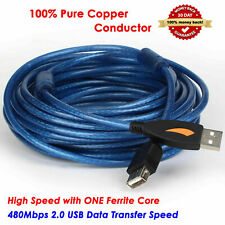 25Feet / 30ft USB 2.0 A Male to A Female Extension 28/24AWG Cable, Shielded Cord