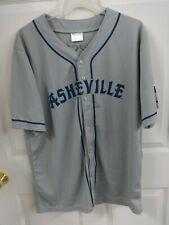 2018 MiLB Asheville Tourists SGA Button Front Gray # 1 Baseball Jersey Men XL