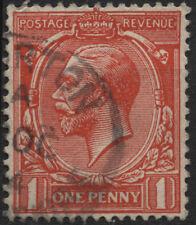 UK 1912 160 1p scarlet brown King George V (wmk 33 crown)