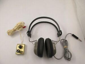 Vintage Archer Dynamic Headphones 8 OHM w/ Radio Shack TV Listener