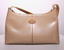 Tod's Tan Patent Leather Hobo Style Handbag / Purse - Zipper - USED