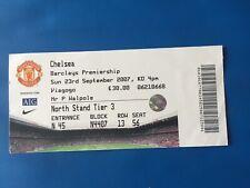 Ticket: 2007/08 Premier League. Man Utd v Chelsea